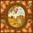 Apple harvest — Stock Vector