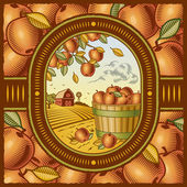 Apple harvest — Vector de stock