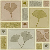 Seamless ginkgo pattern — Vetorial Stock