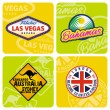Travel stickers set — Image vectorielle