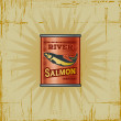 Retro Salmon Can — Stock Vector