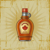 Retro Maple Syrup Bottle — Stock Vector