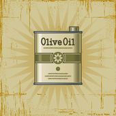 Retro Olive Oil Can — Stock Vector