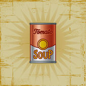 Retro Tomato Soup Can — Stock Vector