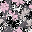 Royalty-Free Stock Vector Image: Night butterfly background