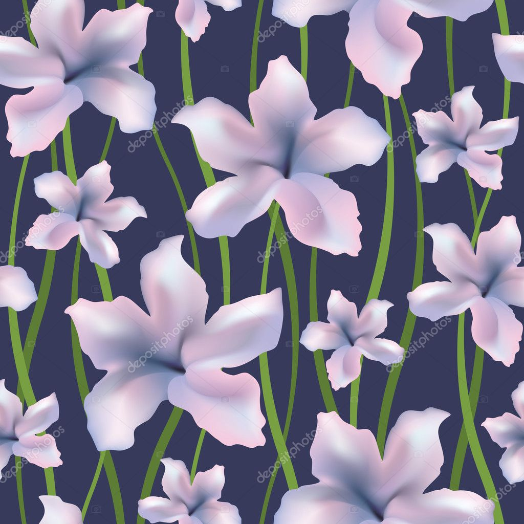 Seamless floral background. Vector illustration with clipping mask. — Stock Vector #5323281