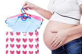 Shopping for a baby — Stock Photo