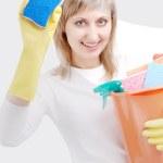 Happy cleaner — Stock Photo