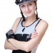 Woman cyclist — Stock Photo #5050917