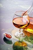 Snifter of cognac — Stock Photo