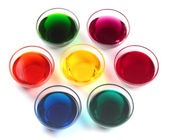 Glass caps with dyes — Foto Stock