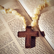 Cross on the Bible — Stock Photo #5289003