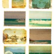 Stock Photo: Grunge sea card set