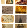 Grunge cards from Paris - Stock Photo