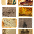 Grunge cards from Paris — Stock Photo