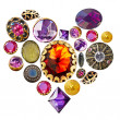 Gemstone heart — Stock fotografie