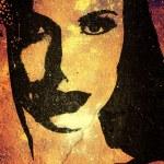 Woman face graffiti on the wall. — Stock Photo #5289321