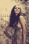 Beautiful woman in summer sun — Stock Photo