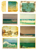 Grunge sea card set — Foto de Stock