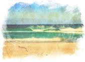Grunge sea painting. — Stock Photo