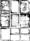 Conjunto de quadros de grunge. — Foto Stock