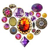 Gemstone heart — Stock Photo