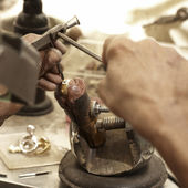 Hardworking Goldsmith working — Stock Photo