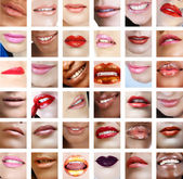 36 women lips close-up — Stock Photo