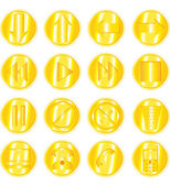Set of gold vector icons — Stock Vector