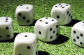 Dice on table — Stock Photo