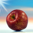 Big red apple — Stock Photo