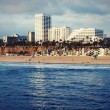 The Pacific Ocean. Santa Monica Beach. - Stock Photo