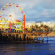 The Pacific Ocean. Santa Monica Pier. - Stock Photo
