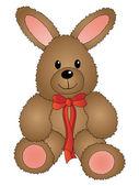 复活节兔子与弓 — 图库矢量图片