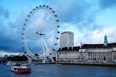 London eye, londen. — Stockfoto