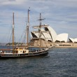 ClipperShip and Opera House — Stock Photo