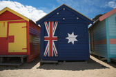 Beach huts in Australia — Stock Photo