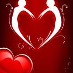 Valentine Couple — Stock Vector