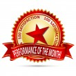 Performance of the Month Award — Stock Vector