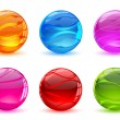 Set of Crystal Ball - Stock Vector