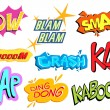Collection of Comic Explosion - Stock Vector