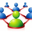 Human Networking - Stockvectorbeeld