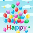 Royalty-Free Stock Vector Image: Birthday Card with Balloons
