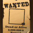 Vintage Wanted Poster — Stock vektor
