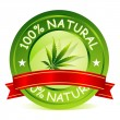 100% Natural Tag — Vector de stock #5148548