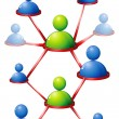 Human Networking — Vettoriali Stock