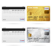 Front and back of credit cards — Stock Vector