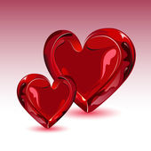 Glossy Heart — Stockvektor