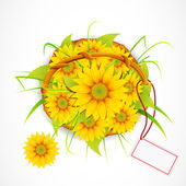 Sun Flower Bouquet — Stock Vector