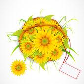Sun Flower Bouquet — Stock Vector